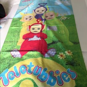 Teletubbies characters Beach towel 100% cotton